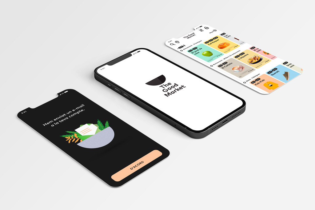 The Good market - app, web, branding